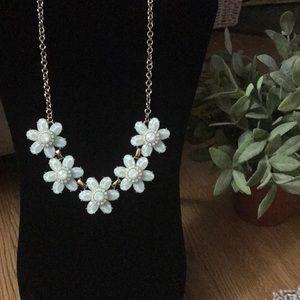 Light blue flower necklace